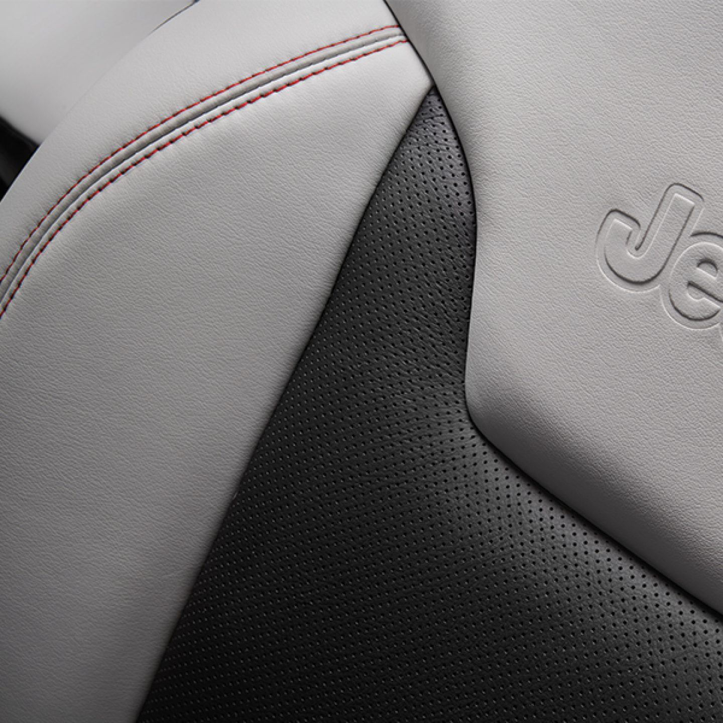 Leather-Trimmed Seats with Perforated Inserts